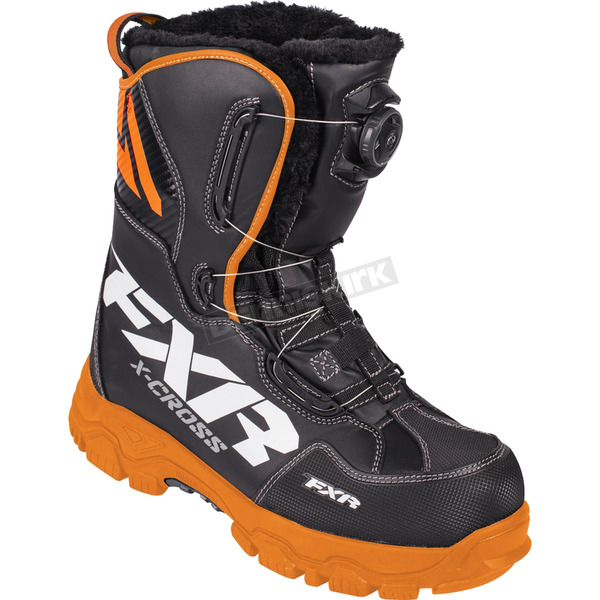 FXR Racing Black/Orange X-Cross BOA Boots - 180704-1030-41