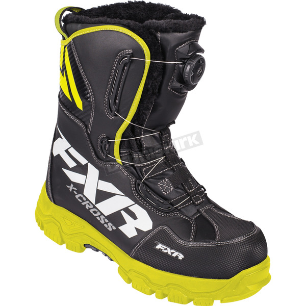FXR Racing Black/Hi-Vis X-Cross BOA Boots - 180704-1065-42