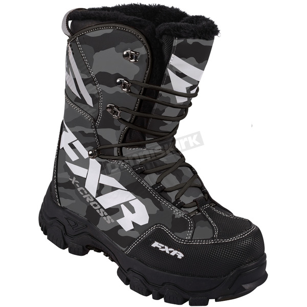 FXR Racing Gray Urban Camo X-Cross Lace Boots - 16508.20008