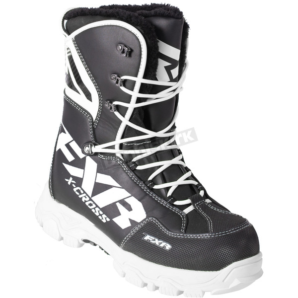 FXR Racing Black/White X-Cross Lace Boots - 180705-1001-43
