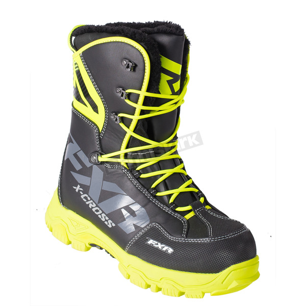 FXR Racing Black/Hi-Vis X-Cross Lace Boots - 180705-1065-42