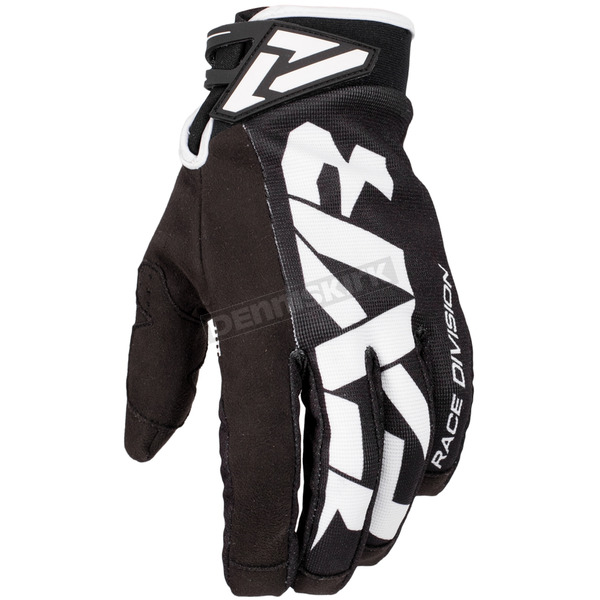 FXR Racing Black/White Cold Cross Race Adjustable Glove - 173343-1001-10
