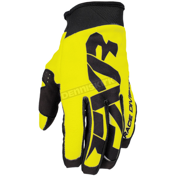 FXR Racing Hi-Vis/Black Cold Cross Race Pursuit Slip-On Glove - 173344-6510-07