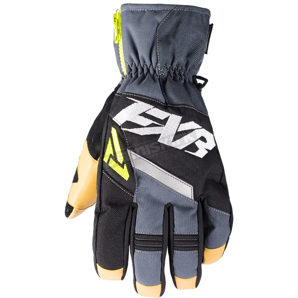FXR Racing Black/Charcoal/Hi-Vis CX Short Cuff Glove - 180804-1008-16