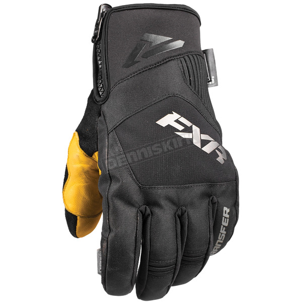 FXR Racing Black Transfer Short Cuff Glove - 180807-1000-19