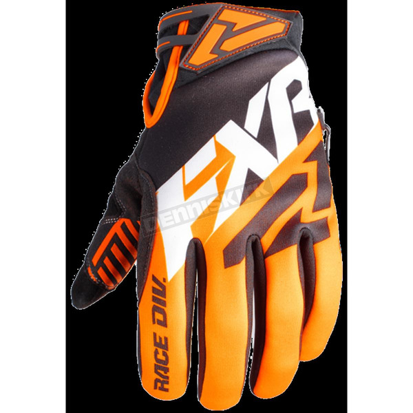 FXR Racing Black/Orange X Cross Glove - 180811-1030-22