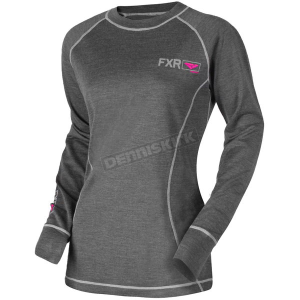 FXR Racing Women's 50% Merino Vapour Long Sleeve Shirt - 181414-0890-16