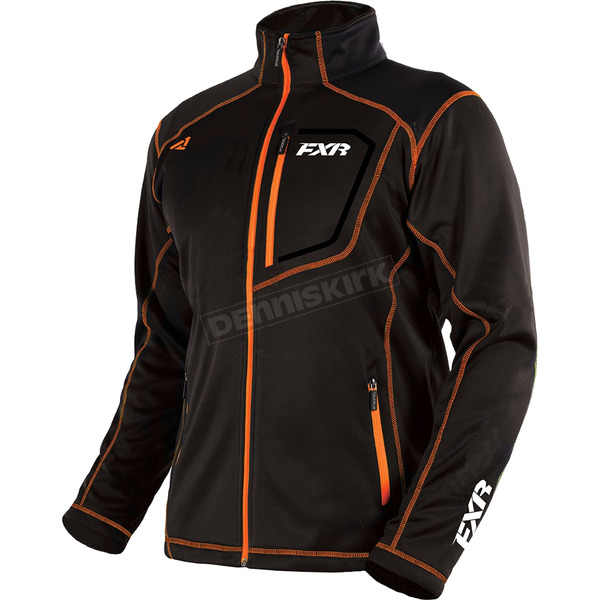 FXR Racing Black/Orange Elevation Tech Zip Up - 181100-1030-10