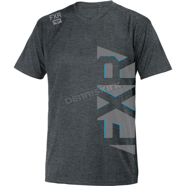 FXR Racing Light Gray Heather/Blue Evo T-Shirt - 181304-0740-10