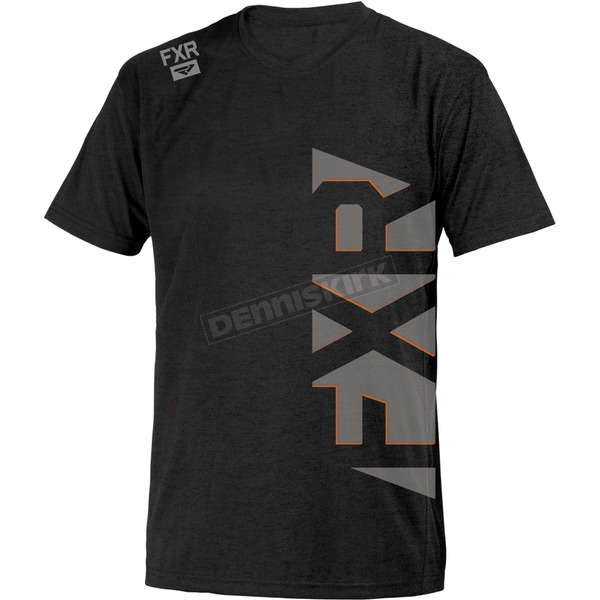 FXR Racing Black/Orange Evo T-Shirt - 181304-1030-19