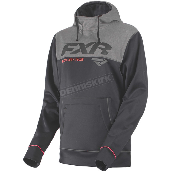 FXR Racing Charcoal Heather/Gray Heather Pursuit Tech Pullover Hoody - 181102-0607-19