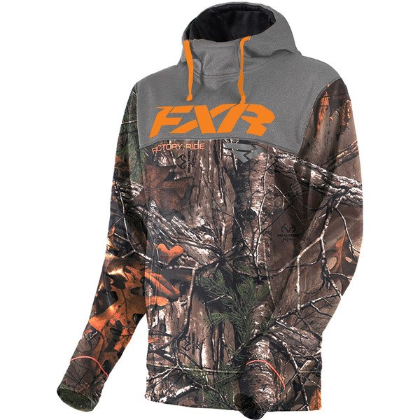 FXR Racing Realtree Xtra/Orange Pursuit Tech Pullover Hoody - 181102-1630-19
