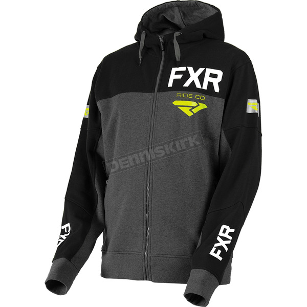 FXR Racing Charcoal Heather/Black Ride Co. Hoody - 181111-0610-13