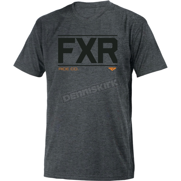 FXR Racing Gray Heather Ride Co. T-Shirt - 181305-0700-10