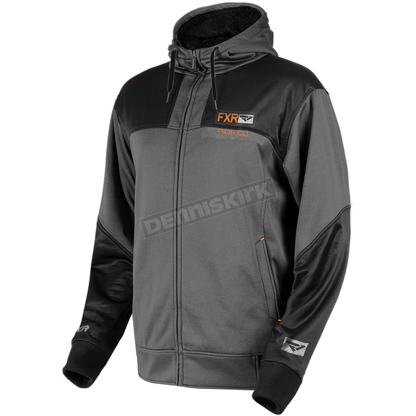 FXR Racing Charcoal Heather/Black Terrain Sherpa Tech Hoody - 181101-0610-13