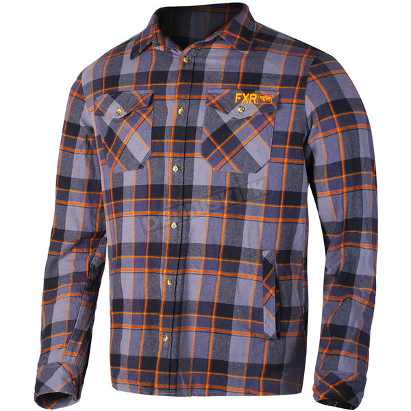 FXR Racing Charcoal/Orange Timber Plaid Shirt - 181106-0830-10