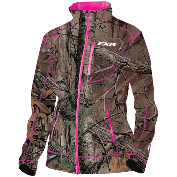 FXR Racing Women's Realtree Xtra/Fuchsia Elevation Tech Zip-Up - 181002-1690-13