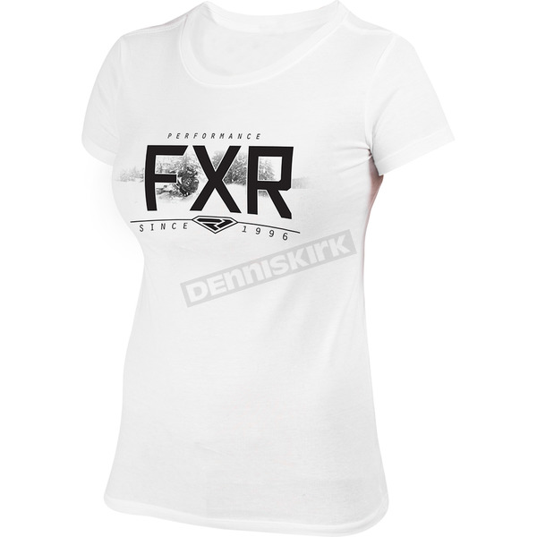 FXR Racing Women's White Free Ride T-Shirt - 181406-0110-10