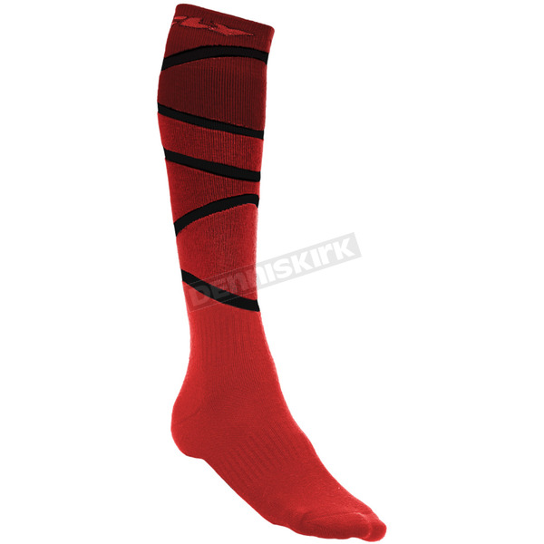 Fly Racing Red/Black Thick MX Socks - 350-0422S