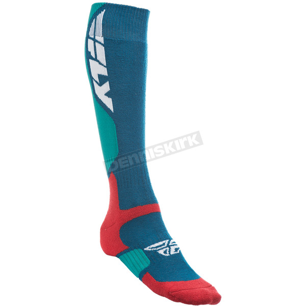 Fly Racing Blue MX Pro Thick Socks - 350-0401L