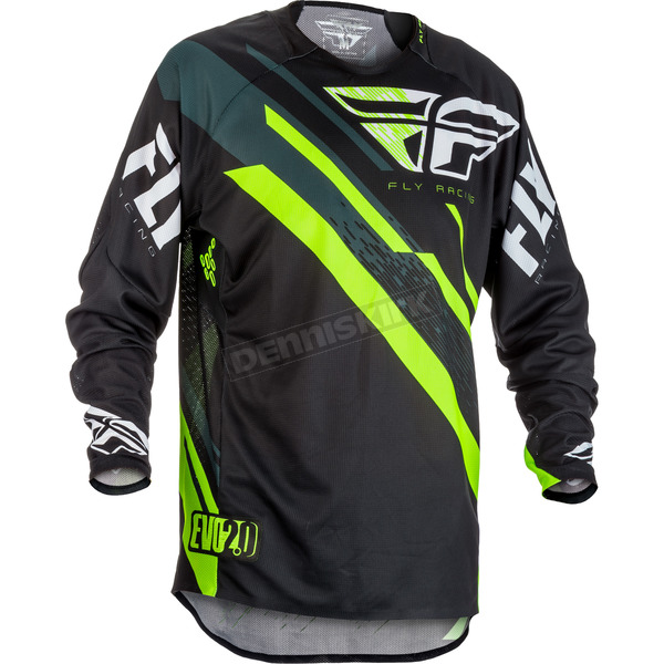 Fly Racing Black/Hi-Vis Evolution 2.0 Jersey - 371-220X