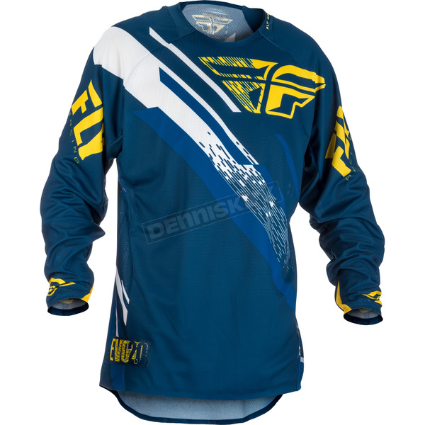 Fly Racing Navy/Yellow/White Evolution 2.0 Jersey - 371-221S