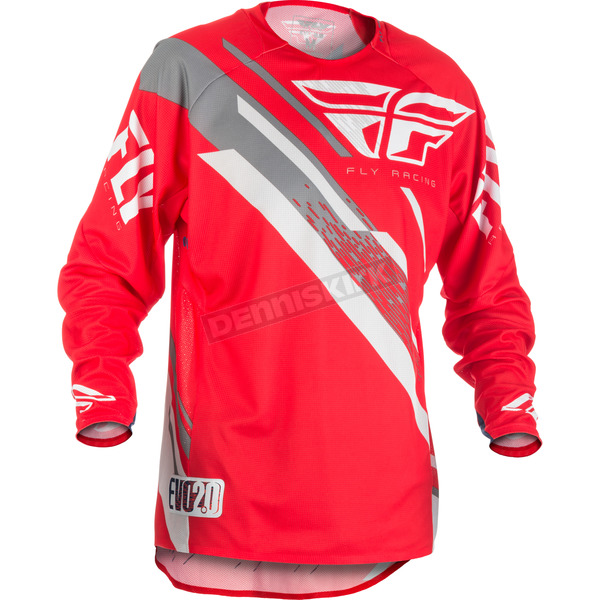 Fly Racing Red/White/Grey Evolution 2.0 Jersey - 371-222X