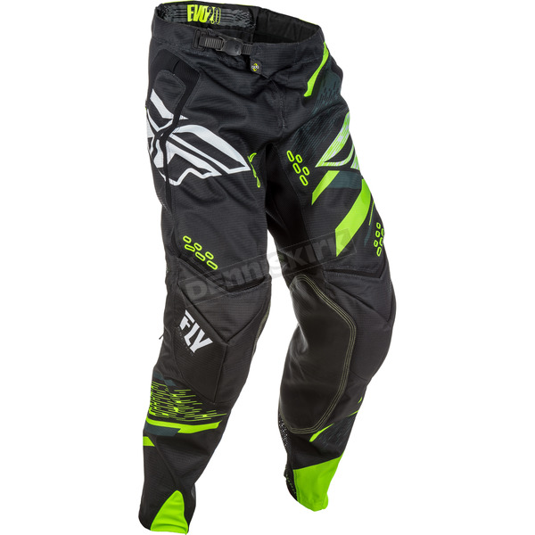Fly Racing Black/Hi-Vis Evolution 2.0 Pants - 371-23040