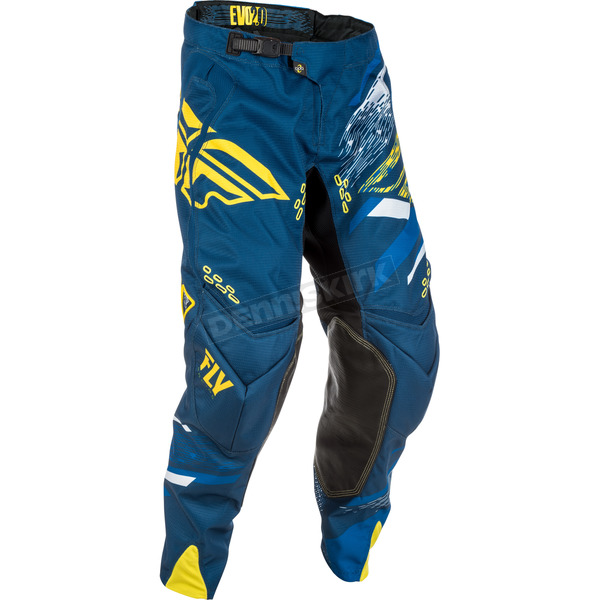 Fly Racing Navy/Yellow Evolution 2.0 Pants - 371-23134