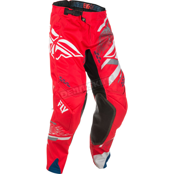 Fly Racing Red/White/Gray Evolution 2.0 Pants - 371-23238