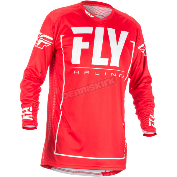 Fly Racing Red/Gray Lite Hydrogen Jersey - 371-722L