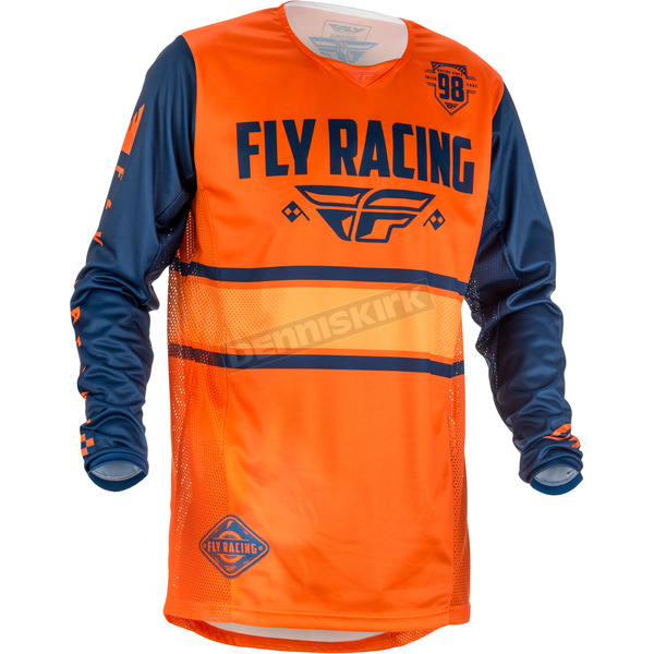 Fly Racing Orange/Navy Kinetic Era Jersey - 371-428M