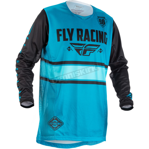 Fly Racing Youth Blue/Black Kinetic Era Jersey - 371-421YS