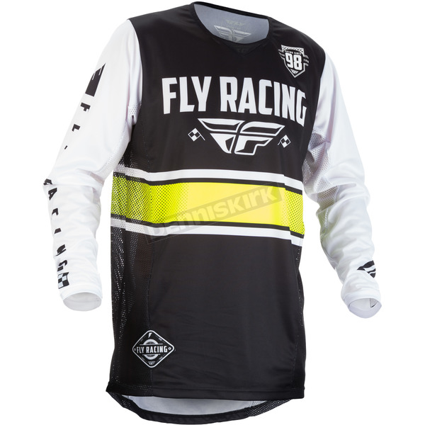 Fly Racing Youth Black/White Kinetic Era Jersey - 371-420YL