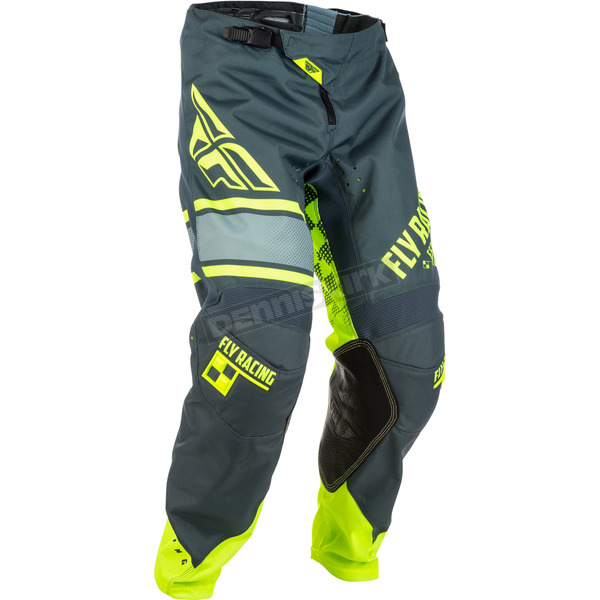 Fly Racing Gray/Hi-Vis Kinetic Era Pants - 371-43928