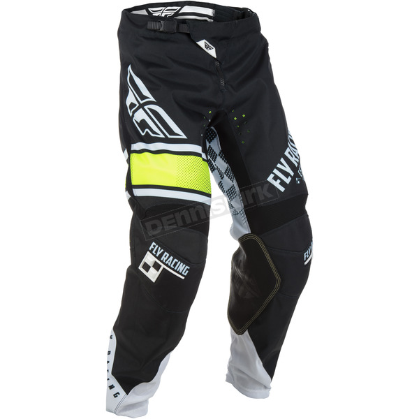 Fly Racing Youth Black/White Kinetic Era Pants - 371-43024