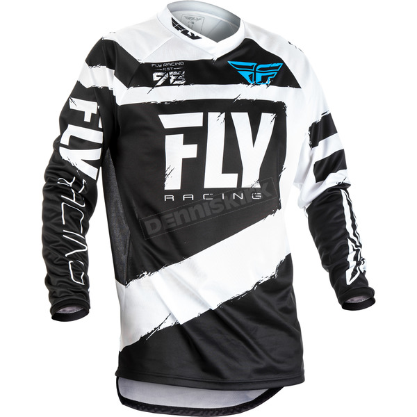 Fly Racing Youth Black/White F-16 Jersey - 371-920YX