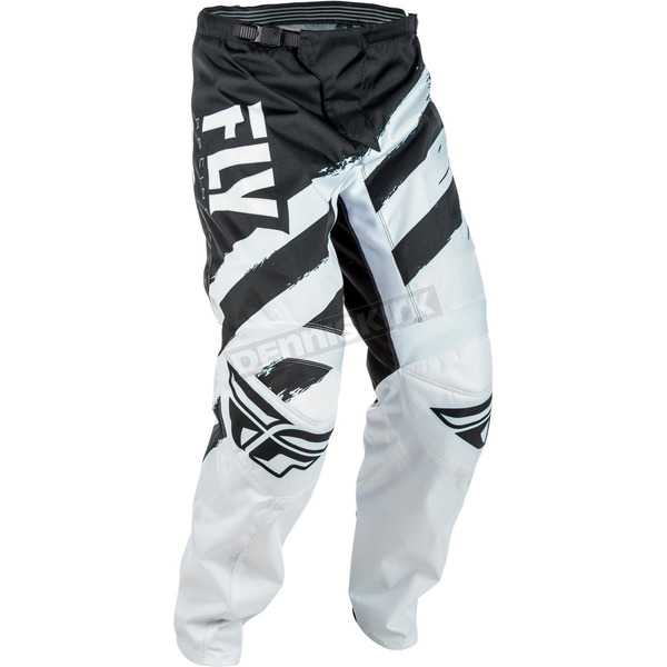 Fly Racing Black/White F-16 Pants - 371-93042