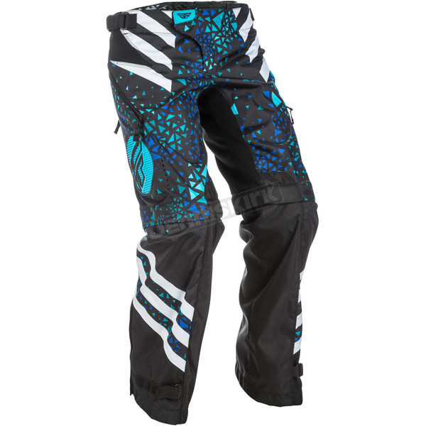 Fly Racing Women's Blue/Black Kinetic Over the Boot Pants - 371-65106