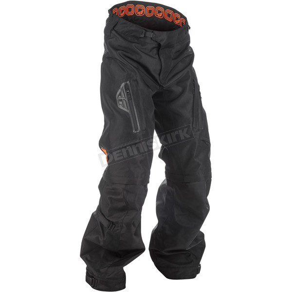 Fly Racing Black/Orange Patrol Over Boot Pants - 371-65034
