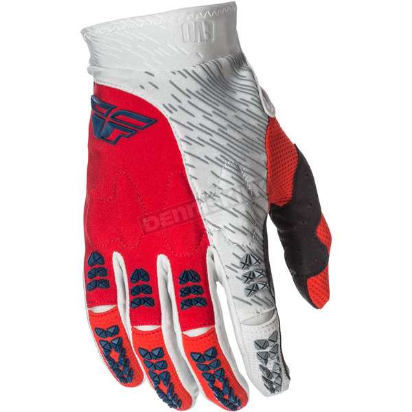 Fly Racing Red/Gray Evolution 2.0 Gloves - 371-11211