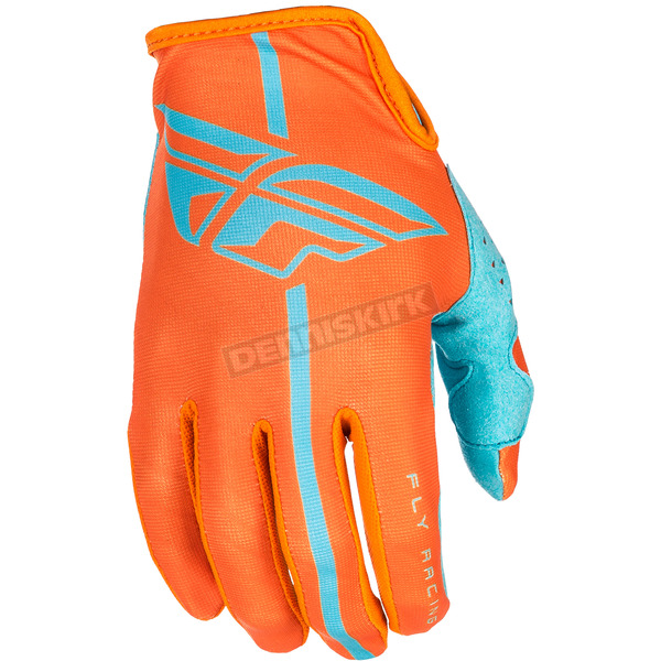 Fly Racing Orange/Blue Lite Gloves - 371-01812