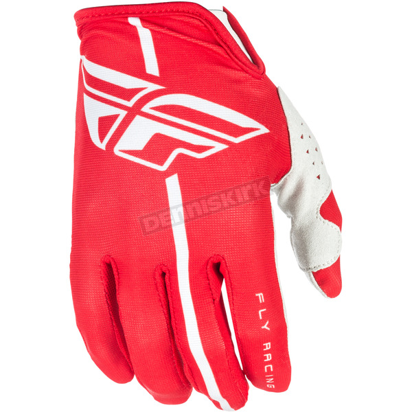 Fly Racing Red/Gray Lite Gloves - 371-01209