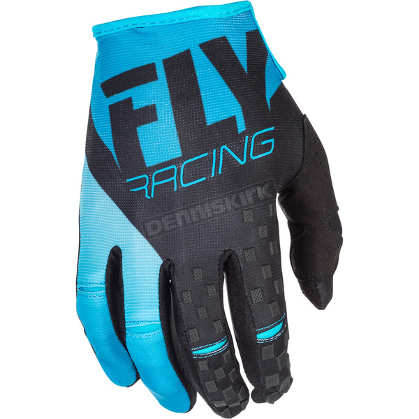 Fly Racing Blue/Black Kinetic Gloves - 371-41110