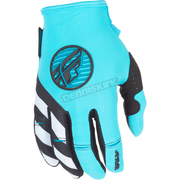Fly Racing Women's Blue/Teal/White Kinetic Gloves - 371-61108