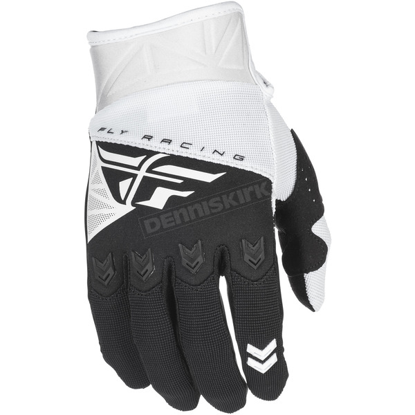 Fly Racing White/Black F-16 Gloves - 371-91408