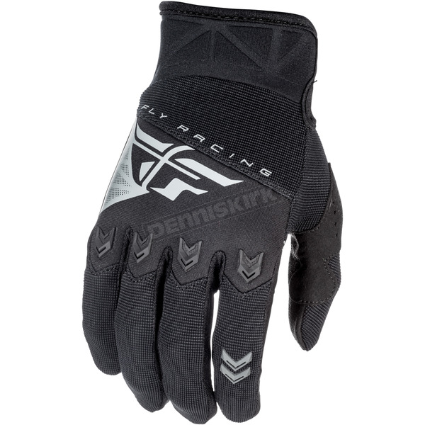 Fly Racing Youth Black F-16 Gloves - 371-91003