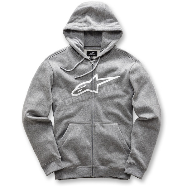 Alpinestars Charcoal Gray Ageless Zip-Up Fleece Hoody - 101753007191M