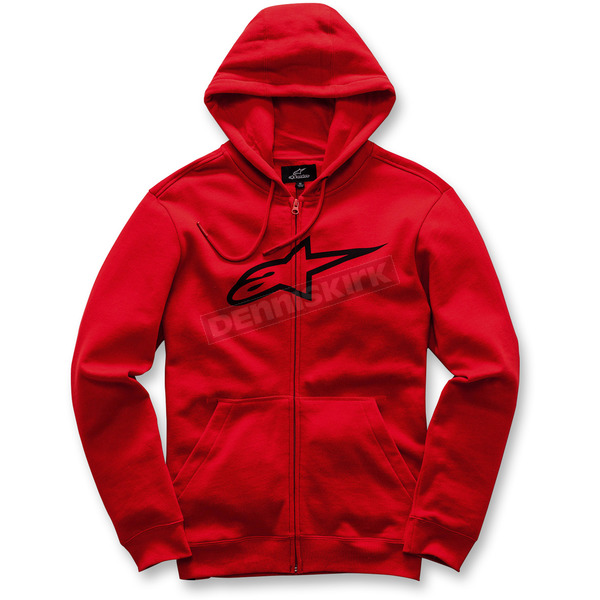 Alpinestars Red Ageless Zip-Up Fleece Hoody - 1017-53007-30L
