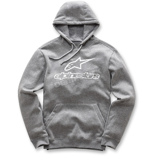 Alpinestars Charcoal Gray Always Pullover Fleece Hoody - 101752006191XL